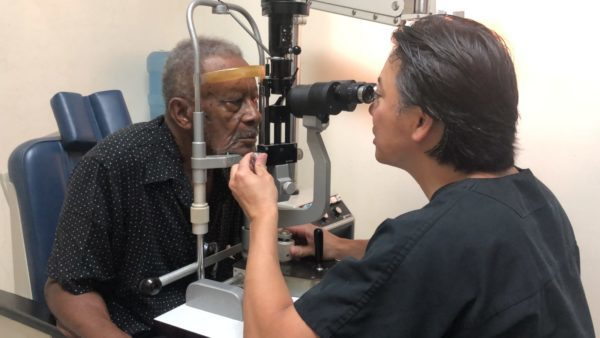 Man Cataracts Eye Exam Honduras Dr. Kang